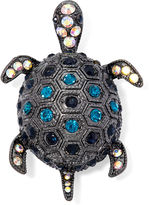 MONET JEWELRY Monet Hematite and Blue Crystal Turtle Pin