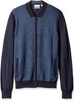 Calvin Klein Men's Full Zip Merino Baseball Sweater