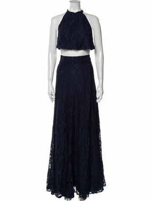 Reformation Lace Pattern Long Dress w/ Tags White