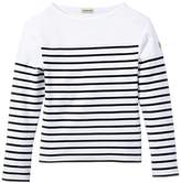 Armor Lux Boys' Striped Long sleeve T-Shirt - White -