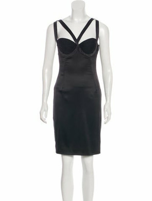 Dolce & Gabbana Sleeveless Silk Dress Black