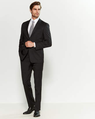 Calvin Klein Two-Piece Black Plaid Suit