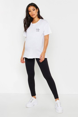 boohoo Maternity Premium Over The Bump Legging
