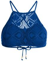 Ralph Lauren Crochet-Overlay Bikini Top Indigo Xs