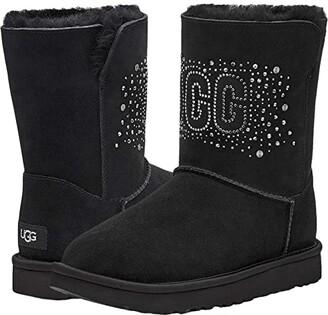 UGG Classic Bling Short (Black) Women's Shoes