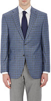 Piattelli MEN'S CHECKED TWO-BUTTON SPORTCOAT-GREY SIZE 36 S