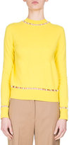 Givenchy Pearly-Embellished Sweater, Yellow