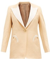 BLAZÉ MILANO Chips Everyday Single-breasted Slubbed Jacket - Womens - Cream