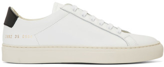 Common Projects White and Black Original Achilles Low Sneakers