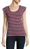 Lord & Taylor Striped Rib-Knit Tee