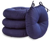 Andover Mills Sarver Indoor/Outdoor Dining Chair Cushion Color: Navy