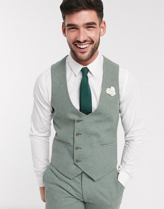 Harry Brown slim fit wedding summer tweed suit suit vest