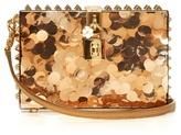 Dolce & Gabbana Dolce Box sequinned plexiglass clutch
