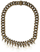 Tory Burch Faux Pearl Collar Necklace