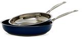 """Cuisinart Stainless Steel 8"""" & 10""""Skillet Set"""
