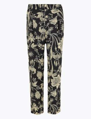 M&S CollectionMarks and Spencer Floral Print Tapered Ankle Grazer Trousers