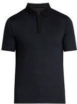 Giorgio Armani Chevron-print Jersey Polo Shirt