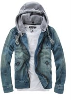 Tanming Men's Denim Coat