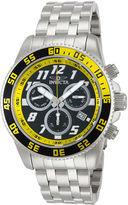 Invicta Pro Diver Mens Silver-Tone & Yellow Chronograph Watch 14510