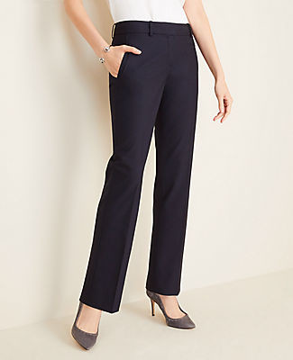 Ann Taylor The Petite Straight Pant in Tropical Wool