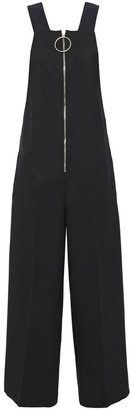 Cédric Charlier Cropped Wool-twill Jumpsuit