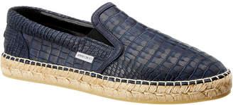 Jimmy Choo Leather Croc-Embossed Slip-On