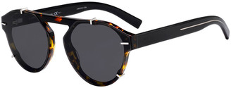 Christian Dior Men's Round Clipped Optyl® Sunglasses