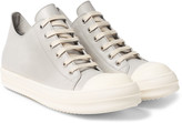 Rick Owens - Rubber-trimmed Leather Sneakers