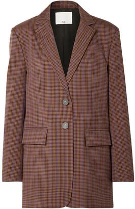 Tibi Oversized Checked Woven Blazer