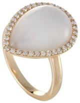 Roberto Coin 18K Rose Gold Diamond Mother of Pearl and Crystal Ring Size 6.25