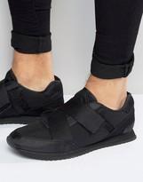 Asos Sneakers in Black With Cross Over Elastic