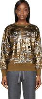Isabel Marant Olive and Gold Camo Sequined Hamilton Sweatshirt
