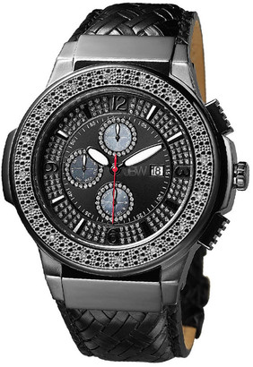 JBW Men's Saxon Diamond & Crystal Watch