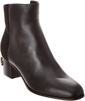 Jimmy Choo Hedon 40 Leather & Suede Bootie