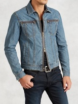 John Varvatos Denim Zip Jacket
