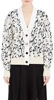 Proenza Schouler Women's Leopard-Pattern Wool-Blend Cardigan