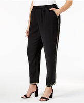 Nine West Plus Size Crepe Straight-Leg Pants