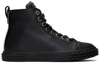 Giuseppe Zanotti Black Blabber High-Top Sneakers
