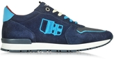 D'Acquasparta D'Acquasparta Botticelli Blue Suede and Fabric Men's Sneaker w/Sky Blue Laces