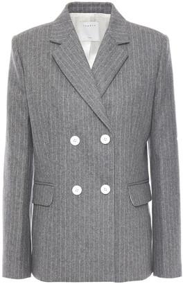 Sandro Tanya Double-breasted Pinstriped Wool-blend Felt Blazer