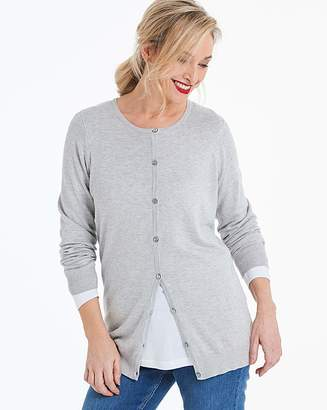 Capsule Light Grey Marl Crew Neck Cardigan