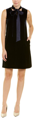 Lafayette 148 New York Petite Ronan Silk-Blend Shift Dress