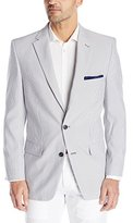 Haggar Men's Seersucker Classic Fit 2-Button Center Vent Sport Coat