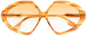 Butterfly oversized sunglasses