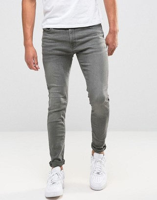 Jack and Jones Intelligence Liam skinny fit jeans in washed grey