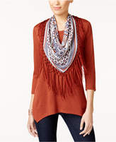 Style&Co. Style & Co Petite Removable Scarf Tunic, Created for Macy's