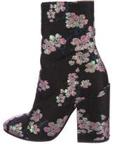 Dries Van Noten Floral Jacquard Ankle Boots