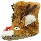 Hatley Unisex Kids' Reindeer Hi-Top Slippers,M Child UK 24 EU