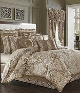J Queen New York Stafford Vintage Damask Jacquard Comforter Set