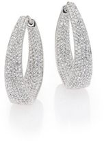 Adriana Orsini Crystal Pave Twist Hoop Earrings/1.25